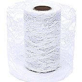 Ribbon Lace - 10cm x 10y - White