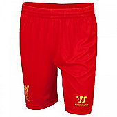 2013-14 Liverpool Home Shorts (Red) - Kids - Red