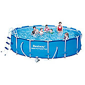"Bestway Steel Pro Metal Frame Round Pool Package 14ft x 39 1/2"" - 56305"