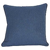 Blue Hopsack Cushion