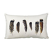 Parlane Rectangular Cushion with Feather Pattern - 50 x 30cm