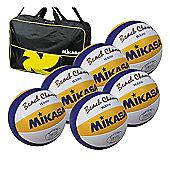 Mikasa VLS300 6 Ball Volleyballs and Bag
