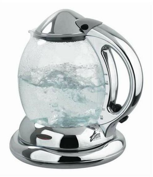 Team WKG67K Chrome and Steel Glass Kettle