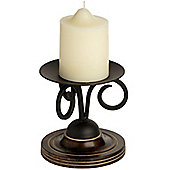 "Hill Interiors Wood and Metal Candlestick for 4"" Candles"