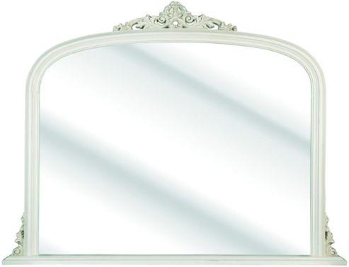 D & J Simons Overmantel Mirror - Ivory - 144cm W x 113cm H