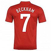 2013-14 England Away Shirt (Beckham 7) - Red