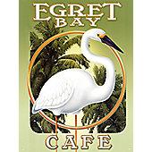 Mike Patrick Egret Bay Cafe Tin Sign
