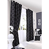 Midtown Eyelet Lined Curtain - Black