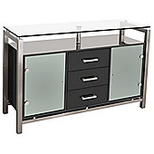 Home Essence 3 Drawer Display Cabinet - Black