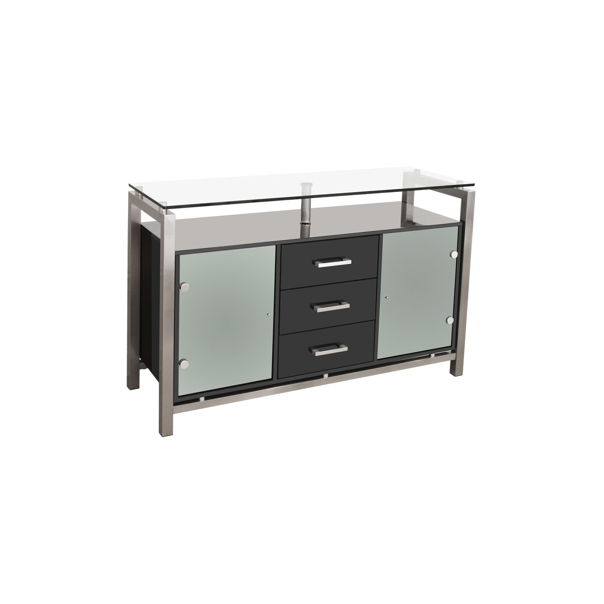 Home Essence 3 Drawer Display Cabinet - Black at Tesco Direct