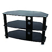 ValuFurniture Brisa 1000mm Black Glass TV Stand for up to 50 inch