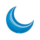 Blue Crescent Balloons - 17' Foil Balloon (5pk)