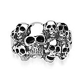 Urban Male Men's Stainless Steel Skull Design Fashion Ring