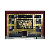 Triskom Metal Wall Entertainment Center TV Stand for LCD / Plasmas - Zebrano/ Italian Coffee