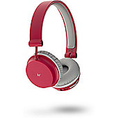KitSound Metro Bluetooth On ear Headphones - Red