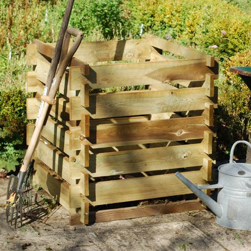 Crocus FSC Wooden Slats Compost Box