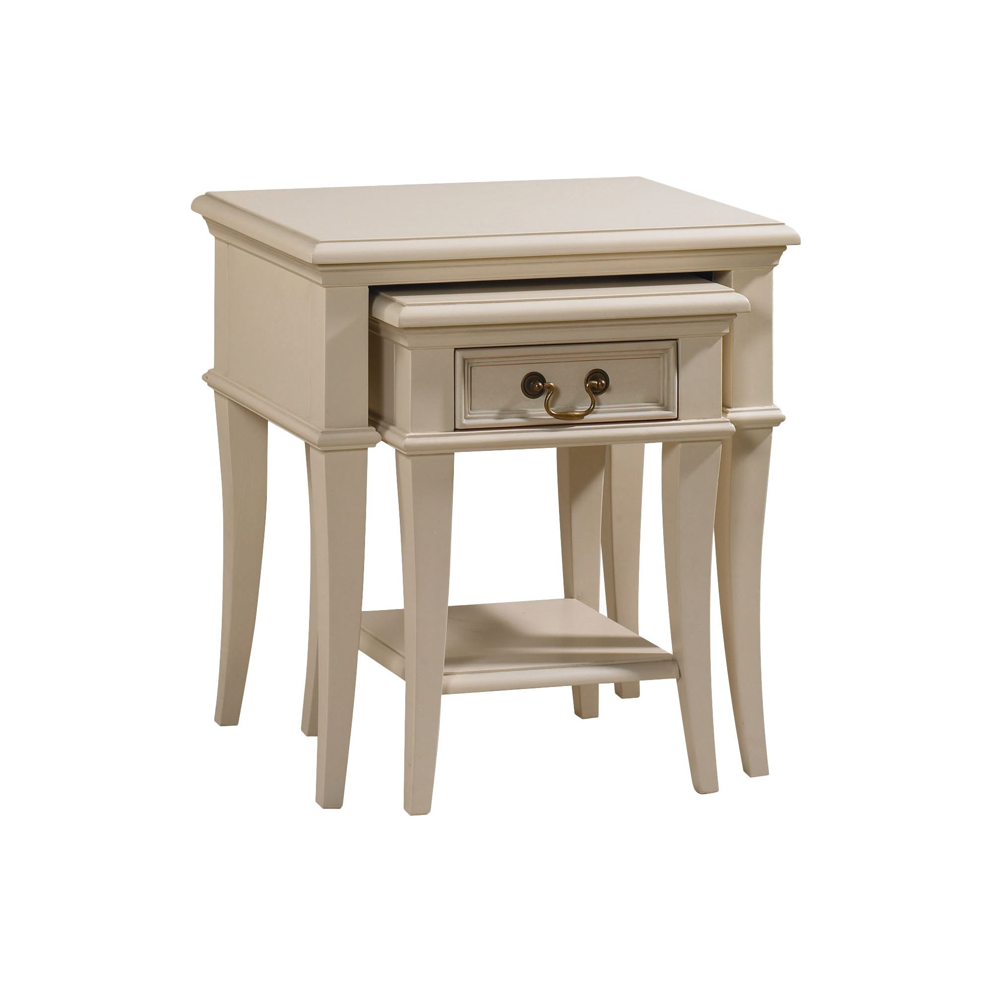 YP Furniture Country House Nest of Two Tables - Ivory at Tesco Direct