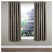 "Ripple Lined Eyelet Curtains W229xL229cm (90x90"") - - Charcoal"