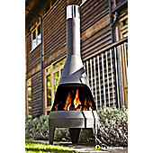 Extra large steel chimenea canyon