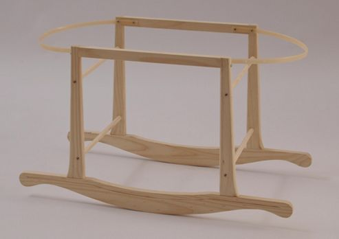 Basic Wooden Rocking Moses Basket Stand in Natural