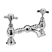 Ultra Beaumont Luxury Bridge Basin Mixer without Waste in Chrome