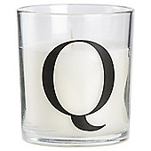 Sweet Vanilla Scented Alphabet Candle Letter Q