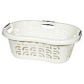 Curver Soft Grip Plastic Laundry Basket, White
