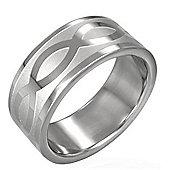 Urban Male Stainless Steel 8mm Celtic Knot Design Men's Ring