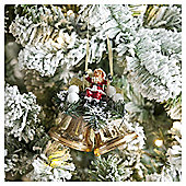 Weiste Gold Santa and Bell Christmas Tree Decoration