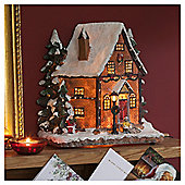 Christmas Village House Scene