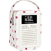 View Quest Emma Bridgewater Retro Mini DAB+/FM Radio with Bluetooth (Pink Hearts)