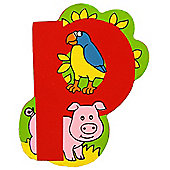 Bigjigs Toys BJL116 Wooden Magnetic Animal Letter Lowercase P (Designs Vary)