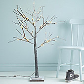 1.2m Indoor Pre-Lit LED Snowy Twig Tree