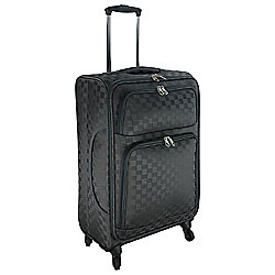 Tesco Lightweight 4-Wheel Medium Zig Zag Suitcase