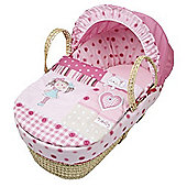 Clair de Lune My Dolly Palm Moses Basket