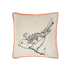 Dickins & Jones Bird Cushion - Natural