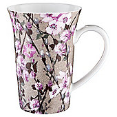 Tesco Tall Blossom Grey Mug Single
