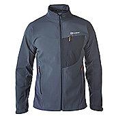 Berghaus Mens Ghlas Softshell Jacket - Dark grey