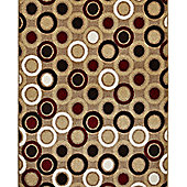 Think Rugs Matrix Beige/Red Rug - 160 cm x 220 cm (5 ft 3 in x 7 ft 3 in)