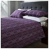 Cotton Rich Geometric Print Duvet Set, - Purple