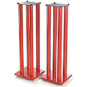 Atacama Speaker Stands in Red - Height 1000mm