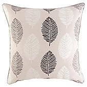 Leaf Print Cushion 43 x 43cm, Natural