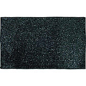 Sanwood Arktis Black and Silver Rug - 120 cm x 70 cm (3 ft 9 in x 2 ft 3 in)