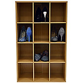Shoe Display Media Shelves - Beech