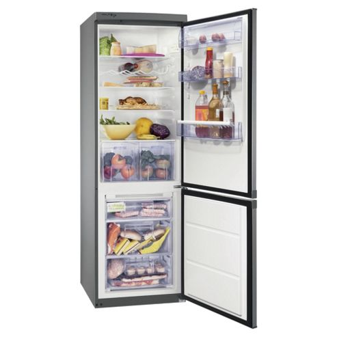 Zanussi ZRB934FX2 Fridge Freezer, Energy Rating: A+, Width 59.5cm. Silver