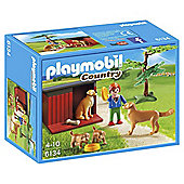 Playmobil 6134 Country Farm Golden Retrievers with Toy