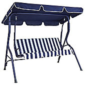 Bentley Garden 3 Seater Swing Seat - Blue & White Striped