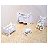 Melissa & Doug Doll's House Wooden Nursery Furniture