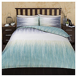 Large Scale Ikat Print Double Duvet Set
