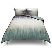 Large Scale Ikat Print Duvet Set, Double